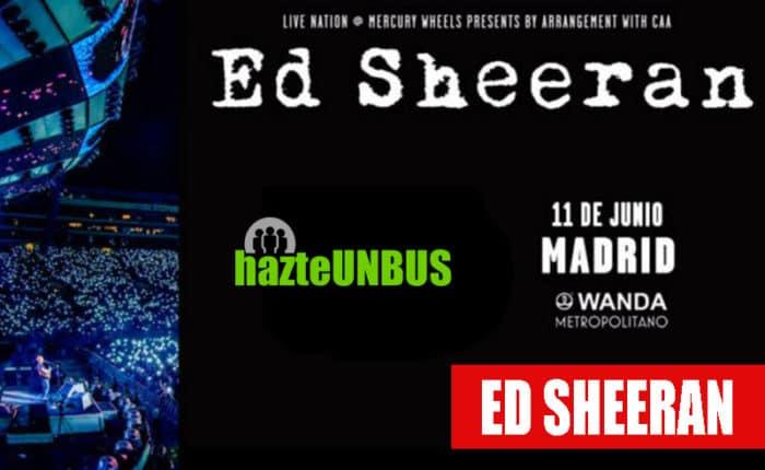 Viaje en bus concierto Ed Sheran