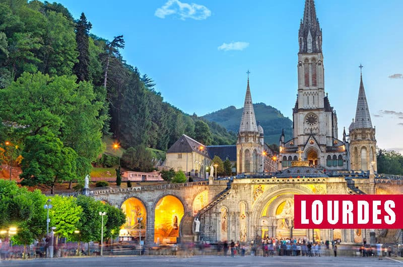 Viaje organizado en autobús a Lourdes
