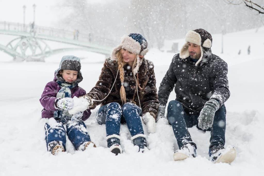 Excursiones en Asturias con niños en la nieve